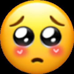 freetoedit blush shy emoji love