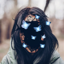 freetoedit surreal broken butterfly butterflies