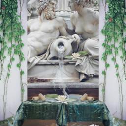 natureinside fountain pond bedroom water freetoedit