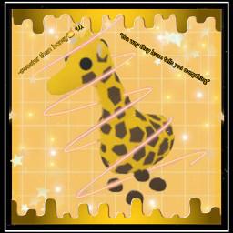 adoptme giraffe yellow replay roblox freetoedit