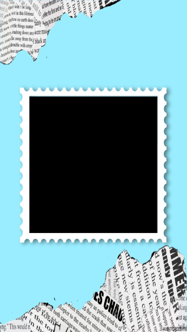 #freetoedit #funimate #funimatesticker #sticker #blue #stamp #newspaper #frame #whiteframe #funimateborder #aesthetic #cute #trending