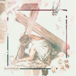 freetoedit jesus cross faith christian srcflowerframe flowerframe