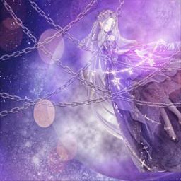 aesthetic cute lovenikki darknight purple freetoedit
