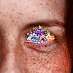 freetoedit flower floweraesthetic flowereye freckles ecflowereyes flowereyes