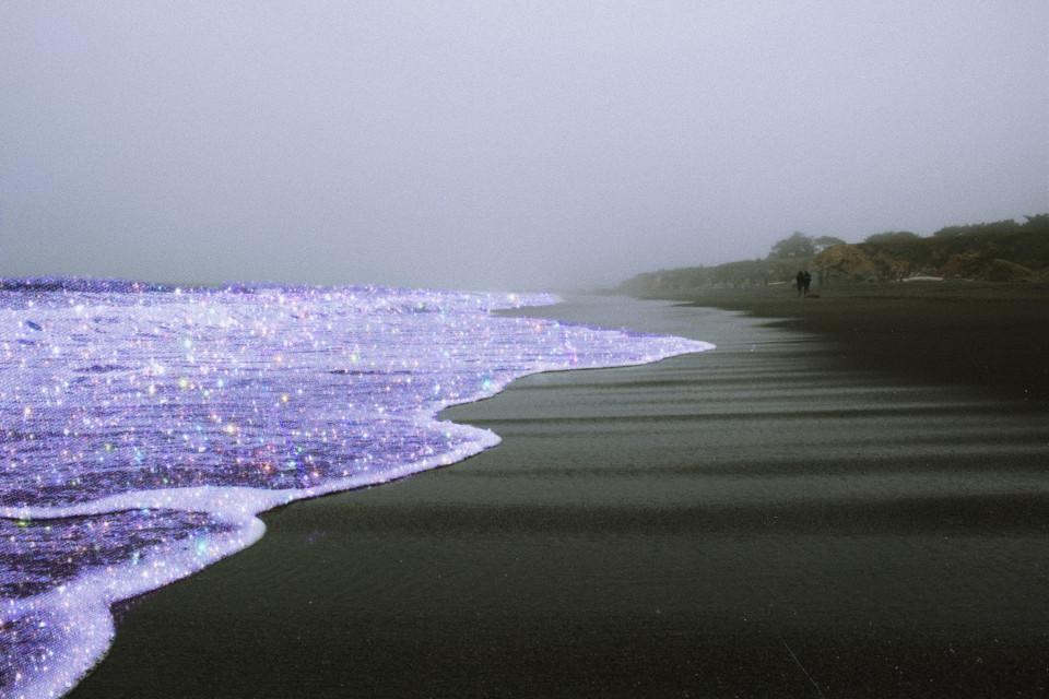 #freetoedit #aesthetic #glitter #ocean #monochrome #art