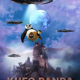ufo panda dreamworks kungfupanda alienized freetoedit