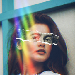 unsplash canvas art prism rainbow freetoedit