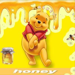 winniethepooh honey cute yellow freetoedit