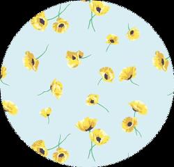 sticker flowers yellow blue green freetoedit