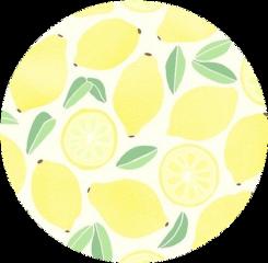 sticker lemons yellow white green freetoedit
