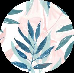 sticker leaves pinkandgreen circle aesthetic freetoedit