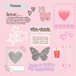 pink lightpink stars butterfly love freetoedit