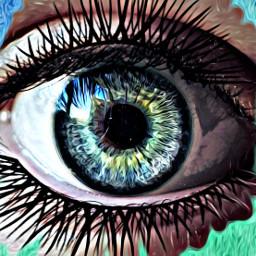 freetoedit pinturaoleo eye greeneyes blueeyes