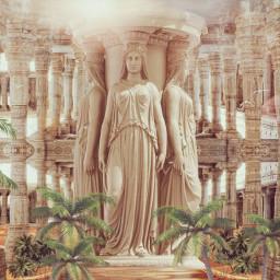 oasis oracle desert natureinside temple