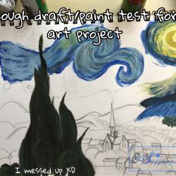 painting starrynight starrynightpainting vangogh vangoghart freetoedit