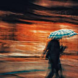 umbrella abstract street mobile orangecolor