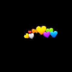 freetoedit hearts rainbowcrown crown heartemojicrown