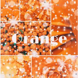 orange glitter oranges orangeflower orangeleaves freetoedit