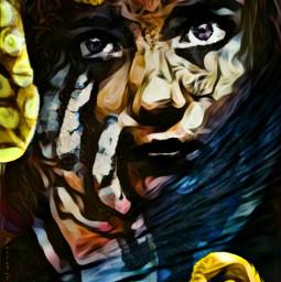 papick freetoedit stainedglass portrait tentacles