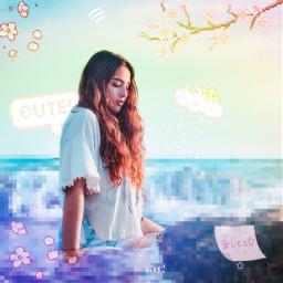 freetoedit pixel girl prismeffect rainboweffect rcpixelperfect