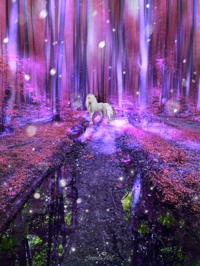 #freetoedit #unicorn #magicforest