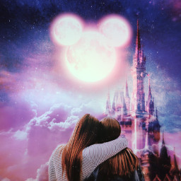 freetoedit magical galaxy friend disneyland
