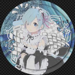 rem rezero anime blueanime aestheticicon freetoedit