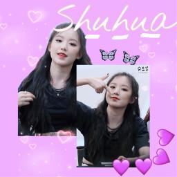gidle shuhua kpop freetoedit