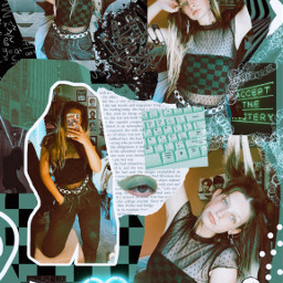 ootd fashion collage art green freetoedit