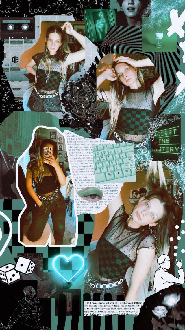 @kittylouu on insta #ootd #fashion #collage #art #green #bts  #freetoedit