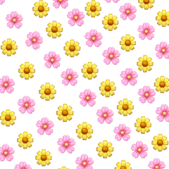 asthetic flowers pink yellow sticker
