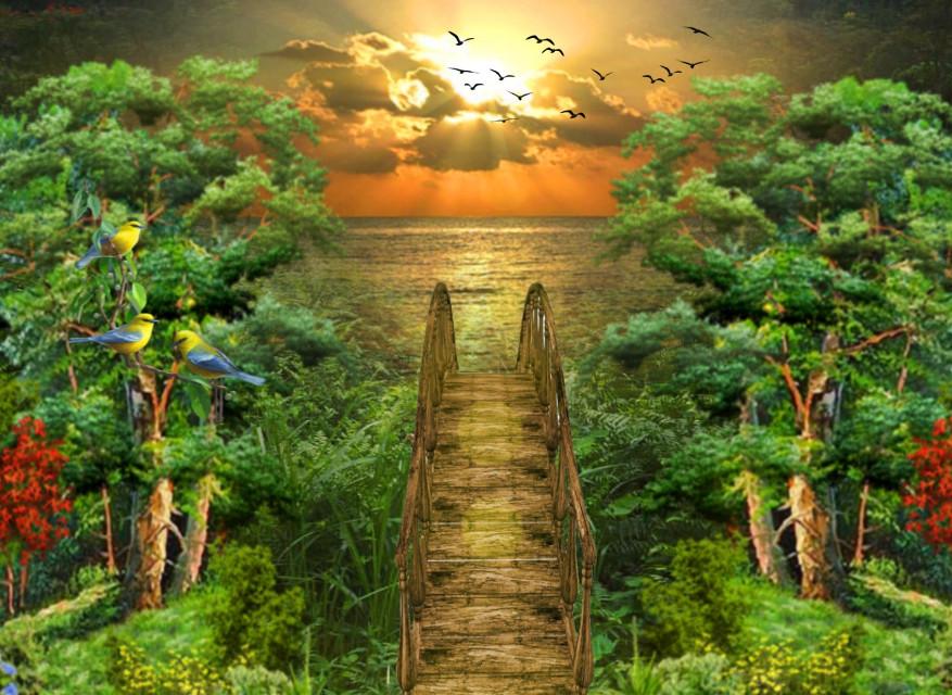 #freetoedit #picsart @picsart #nature #landscape #stepbystep #remixit #learningpicsart #sunset