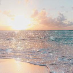 wallpaper glitter editedbyme ocean vibes freetoedit