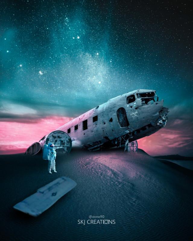 #freetoedit #picsart #myedit #madewithpicsart #galaxy #astronaut #space #earth #surreal #imagination #picsart #universe #alone #airplane #desert