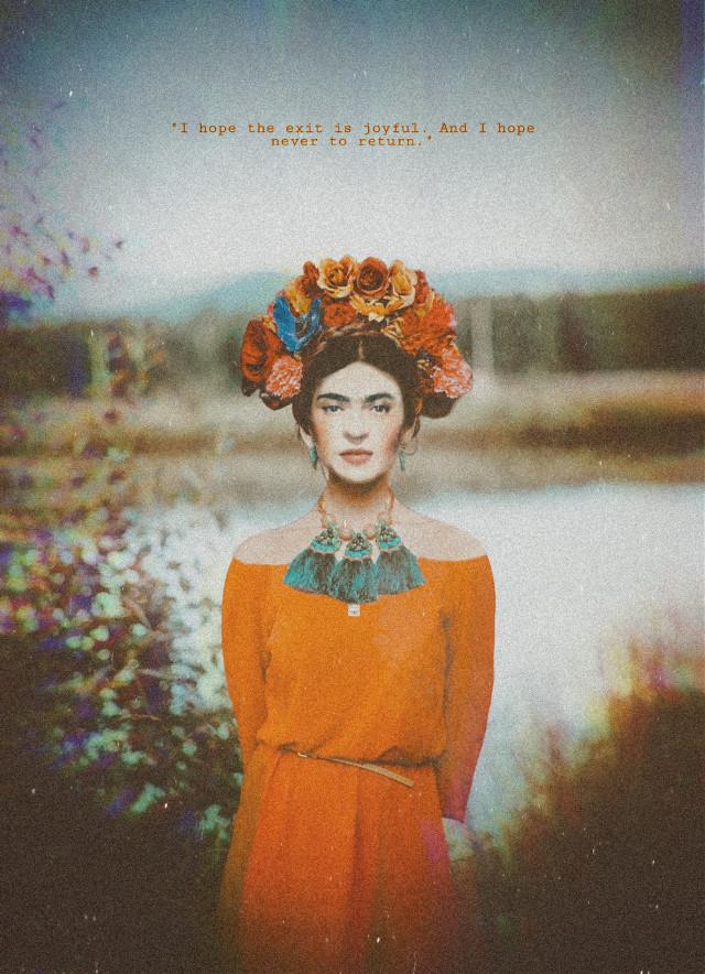 #freetoedit #fridakahlo #myedit #picsarteffects #flowers #woman #portrait #quotes #quotesandsayings #madewithpicsart #inspiration