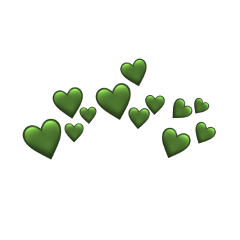 freetoedit heartcrown green greenheart greenheartcrown