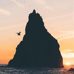 beachlife hotweather sunsettime thesungoesdown rockformation freetoedit