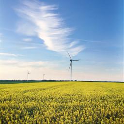 freetoedit windturbine wind sky clouds