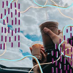 freetoedit coffee sky summer