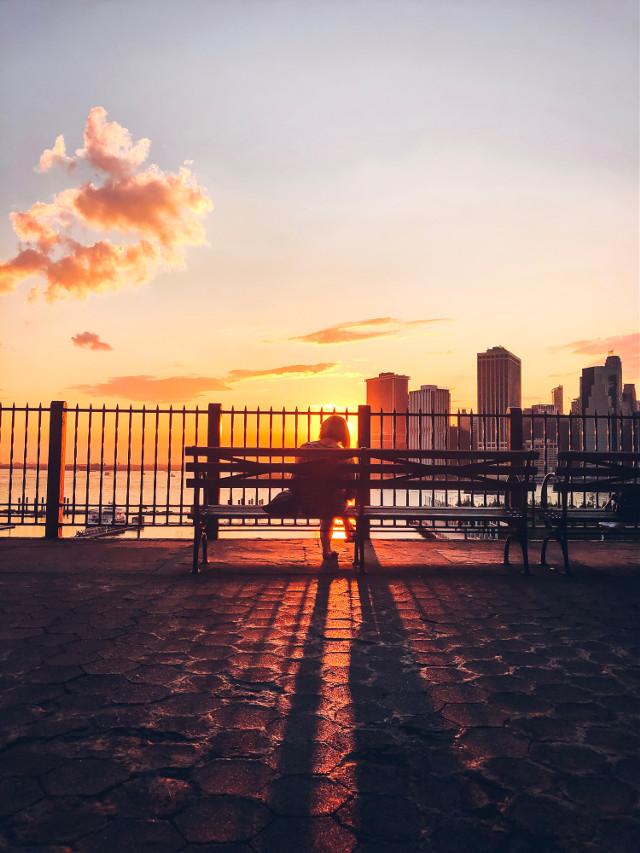 #picsart #remixit #freetoedit #sunset #sunrise #sun #sky #clouds #edit #photo #glow #newyork #city #nyc #skyline #buildings #view #shadow #night #day