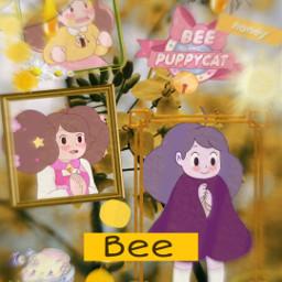 beeandpuppycat puppycat bees bee yellow freetoedit