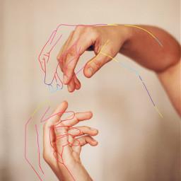 sketch sketcheffect sketchy hand hands freetoedit