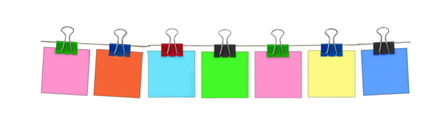 freetoedit neon sticky note parper schedule