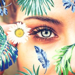 freetoedit eye flower leaf srcmonsteramoment monsteramoment