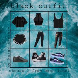 freetoedit bingo outfitbingo black blackoutfit