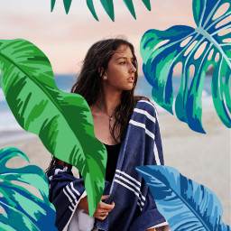 sandbeach greenery girl freetoedit srcmonsteramoment monsteramoment