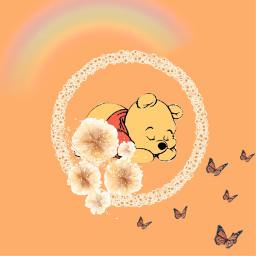 freetoedit disney poohbear winniethepooh orange