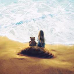 freetoedit seashell girl seaside beach