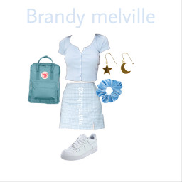 brandymelville outfit ideas airforce blue scrunchie freetoedit