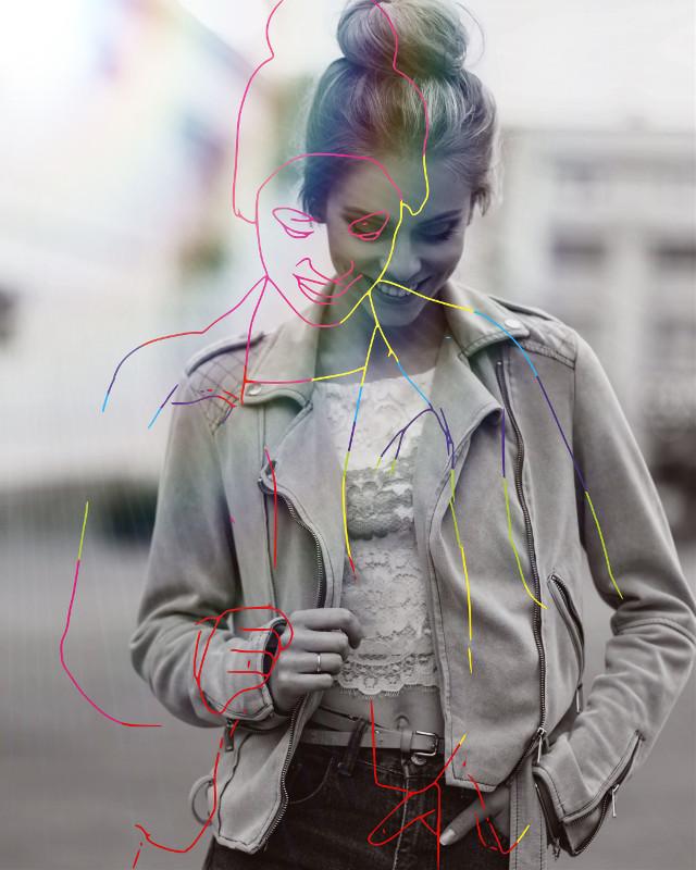 #freetoedit #sketch #rainbow #rainbowstroke #rainboweffect #blackandwhite #outline